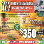 FALL 2016 Al's Rubbish Blackstone Valley special