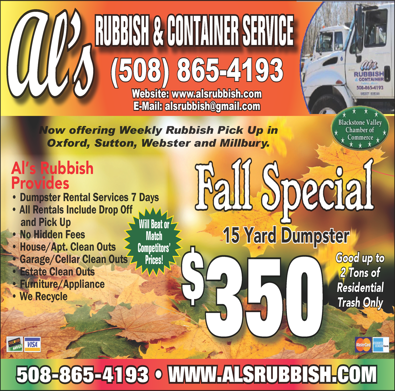 FALL 2016 Al's Rubbish ad
